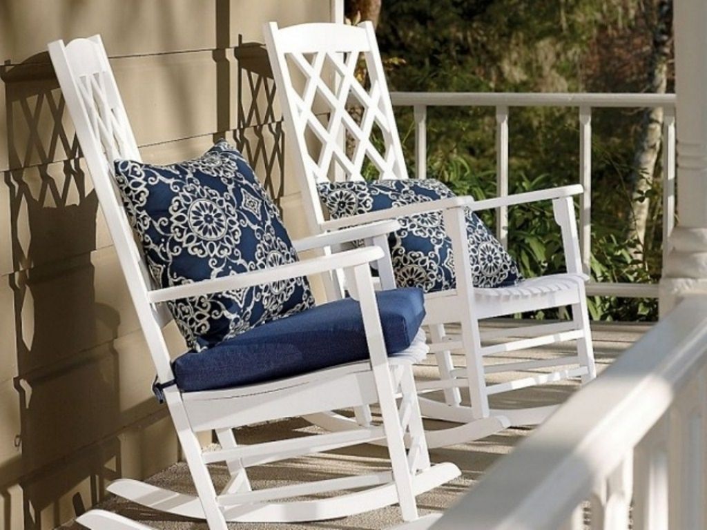 Red Front Porch Rocking Chairs : Stylish Front Porch Rocking Chairs Inside Well Known Rocking Chairs For Front Porch (View 9 of 15)