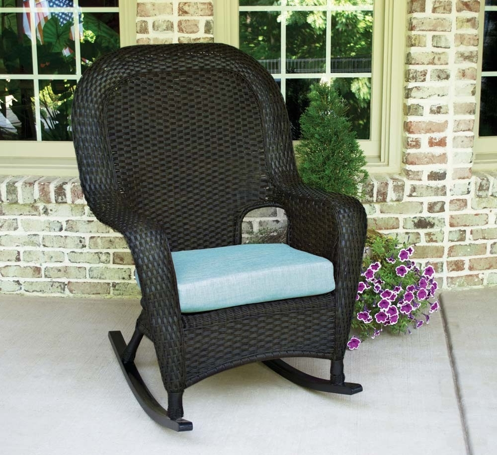 Resin Wicker Rocking Chairs Throughout Most Up To Date Tortuga Outdoor Lexington Wicker Rocker – Wicker (View 10 of 15)