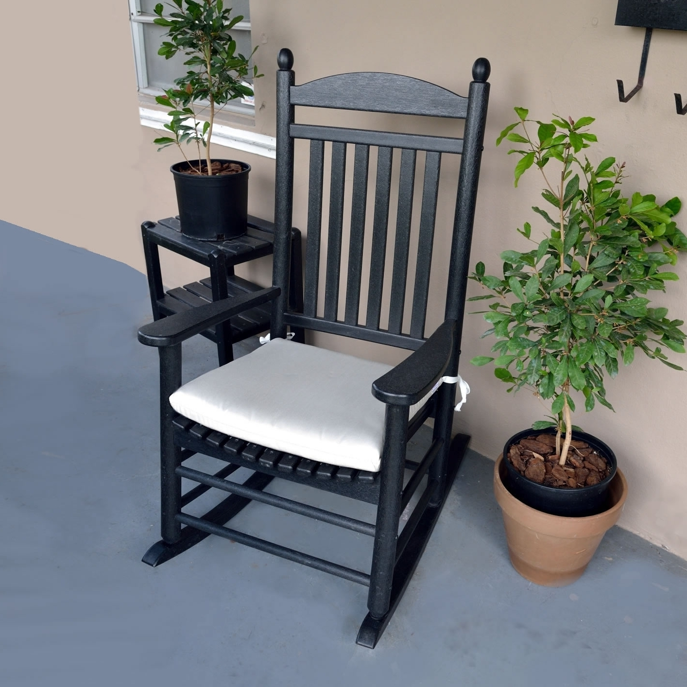Rocking Chair Cushions For Outdoor Regarding Best And Newest Beautiful Outdoor Rocking Chair Cushions — All Modern Rocking Chairs (View 2 of 15)