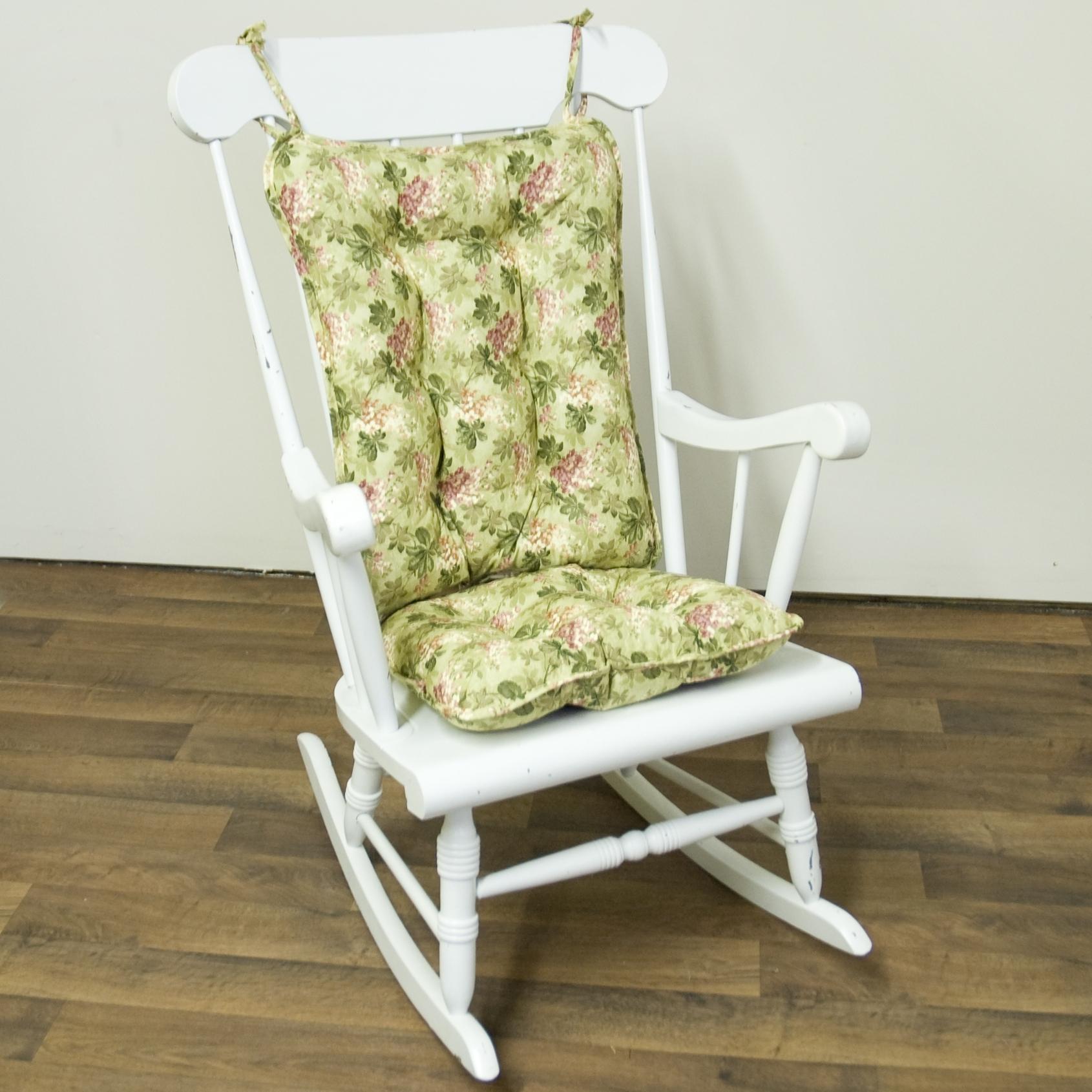 Rocking Chair Cushions For Outdoor Regarding Best And Newest Outdoor Rocking Chair Cushions Flower : Beautiful Outdoor Rocking (View 10 of 15)
