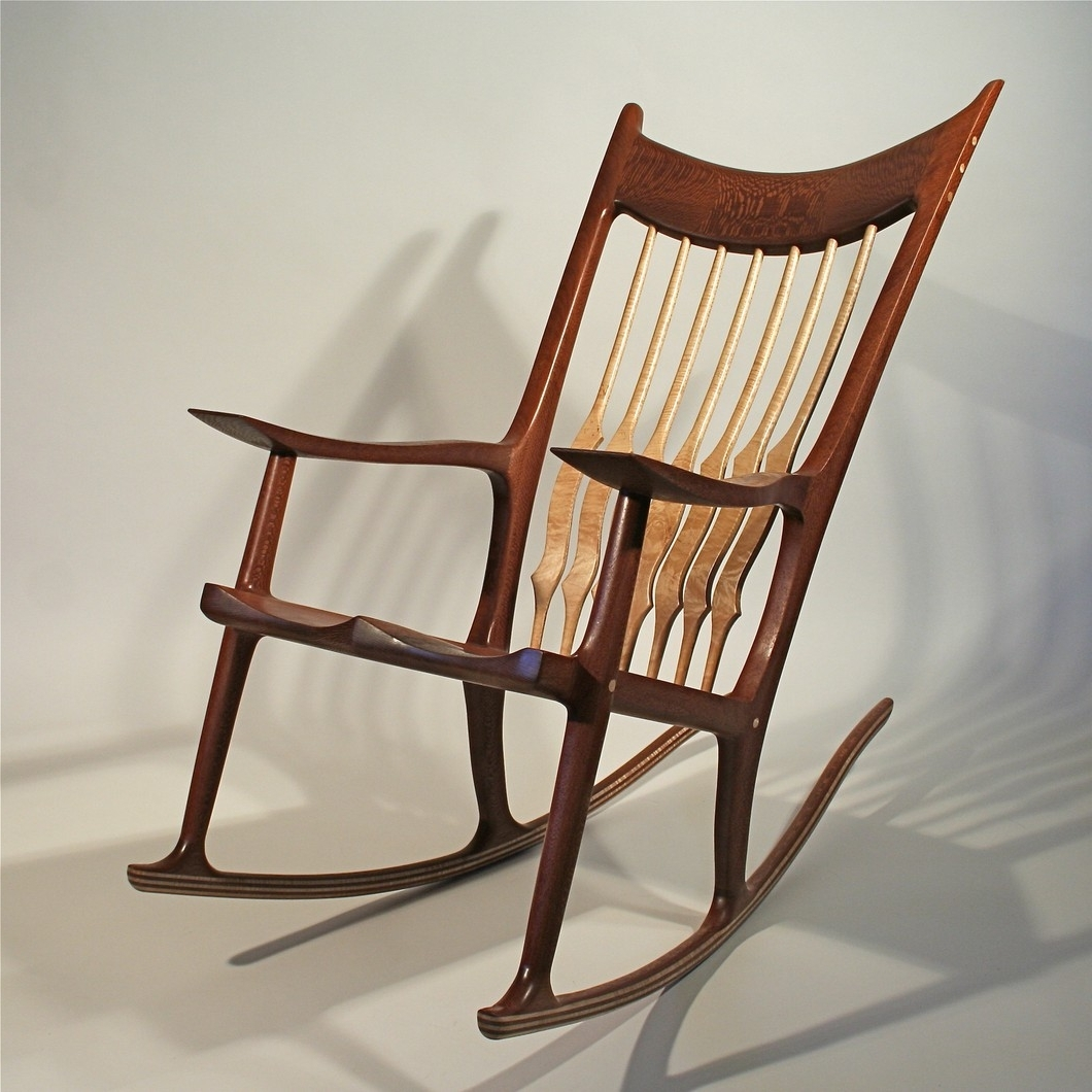 Rocking Chair – Timothy's Fine Woodworking Inside Current Rocking Chairs With Lumbar Support (View 7 of 15)
