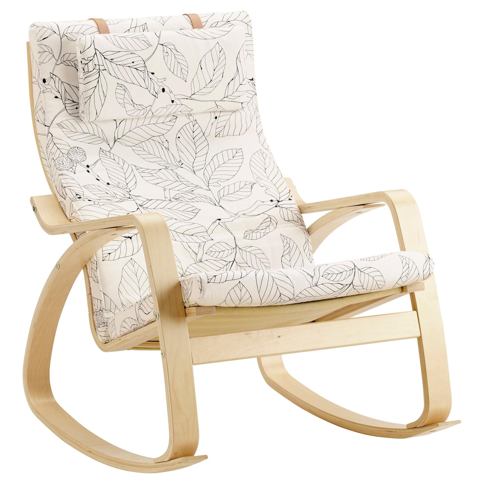 Rocking Chairs Adelaide Regarding 2018 Poäng Rocking Chair – Knisa Red/orange – Ikea (View 7 of 15)