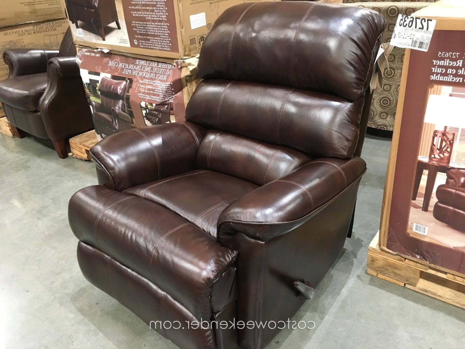 Rocking Chairs At Costco With Most Recent Barcalounger Leather Rocker Recliner Chair (View 7 of 15)