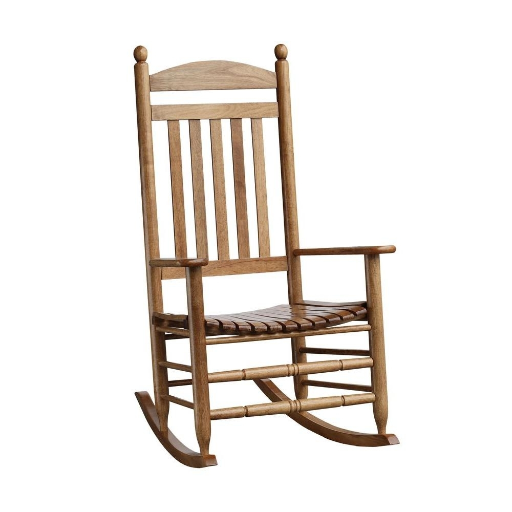 Rocking Chairs At Home Depot Throughout Latest Bradley Maple Slat Patio Rocking Chair 200Sm Rta – The Home Depot (View 5 of 15)