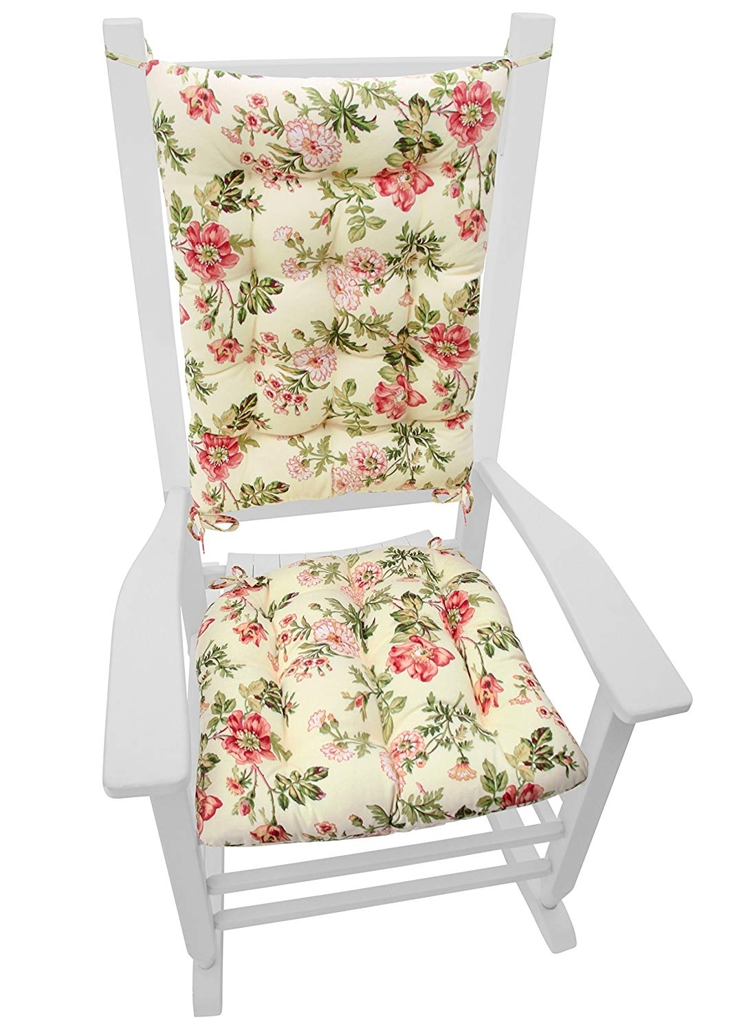 Rocking Chairs At Roses Inside Most Recent Amazon: Rocking Chair Cushions – Farrell Wild Rose Pink – Seat (View 7 of 15)
