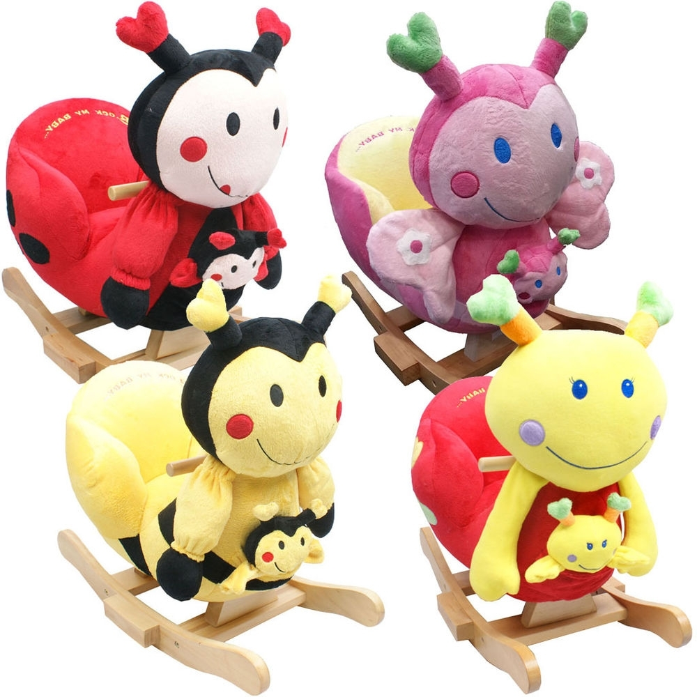 Rocking Chairs For Babies Intended For Latest Baby Rocker Rocking Chair Toy Toddler Animal Soft Cuddly Musical (View 7 of 15)