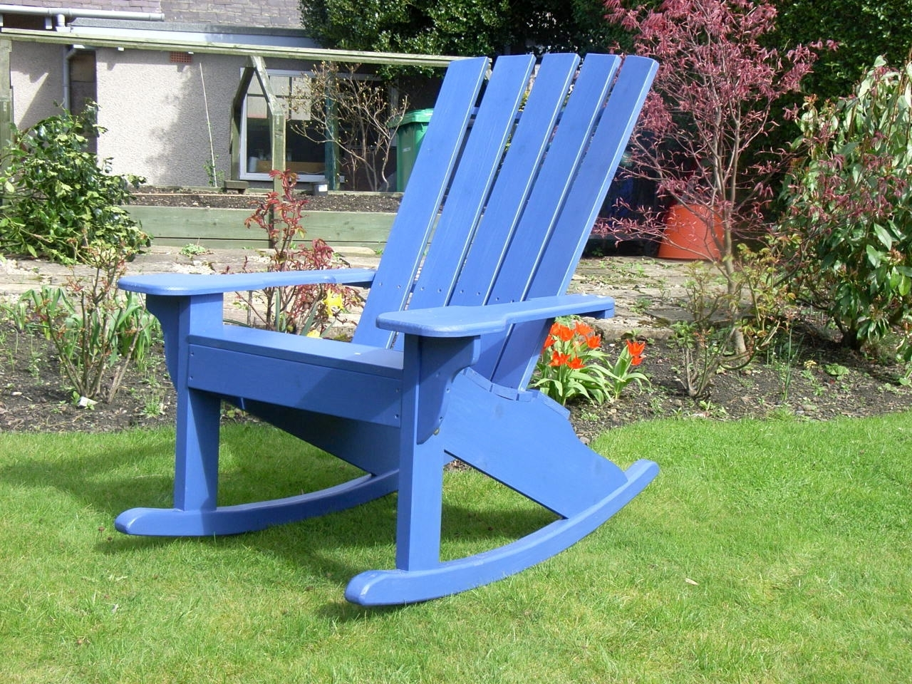 Rocking Chairs For Garden Intended For Current The Adirondack Rocker Chair – Sunshine Chairs (View 11 of 15)