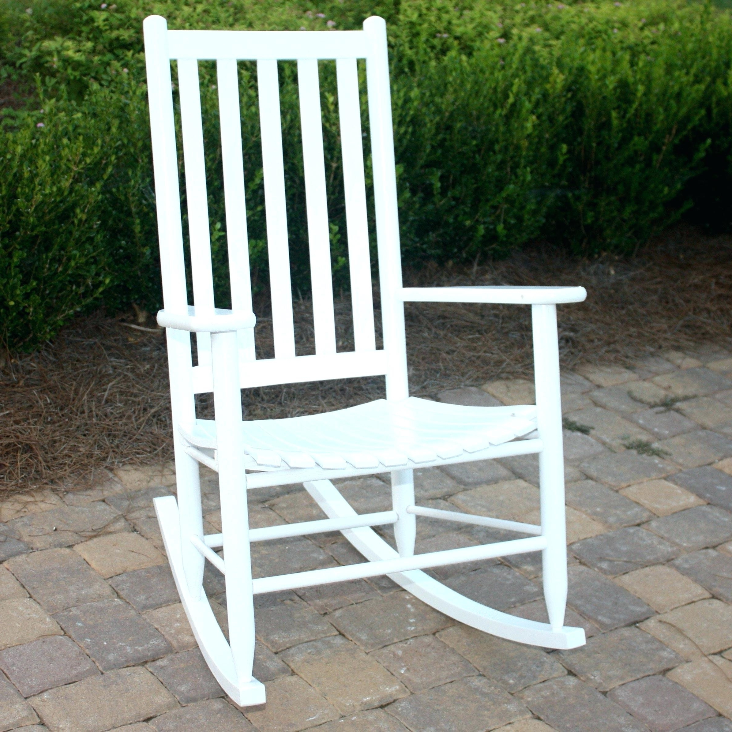 Rocking Chairs For Outside With 2018 Patio Rocking Chairs Outside Chair Sets White Wicker Canada Resin (View 12 of 15)
