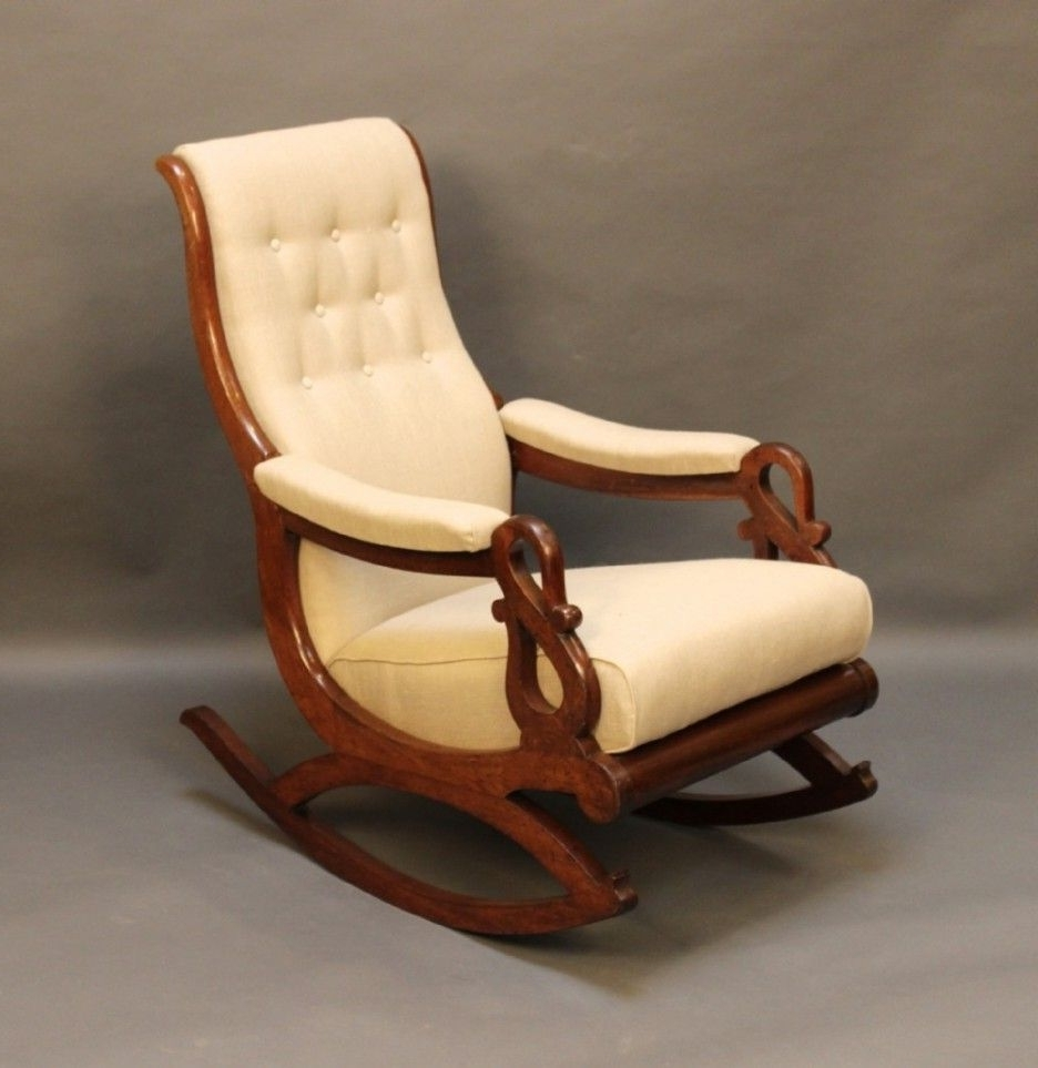 Rocking Chairs With Cushions Regarding Recent Image Result For Rocking Chair With Tan Cushions (View 12 of 15)