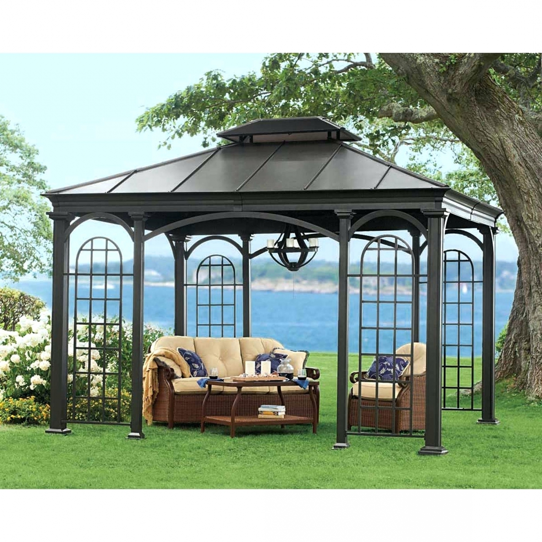 Rona Patio Rocking Chairs For Current Gazebo Rona Hardtop Gazebos For Ontario Clearance Throughout Patio (View 8 of 15)