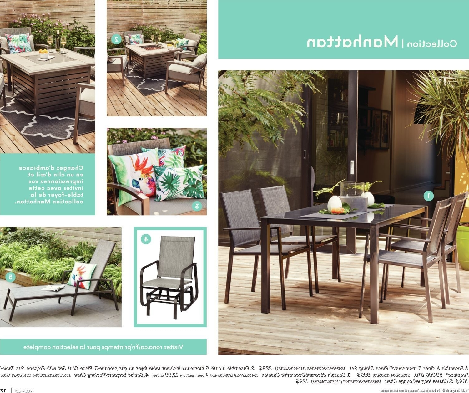 Rona Patio Rocking Chairs Regarding Most Popular Rona Canada Outdoor Dining Sets – Outdoor Ideas (View 4 of 15)