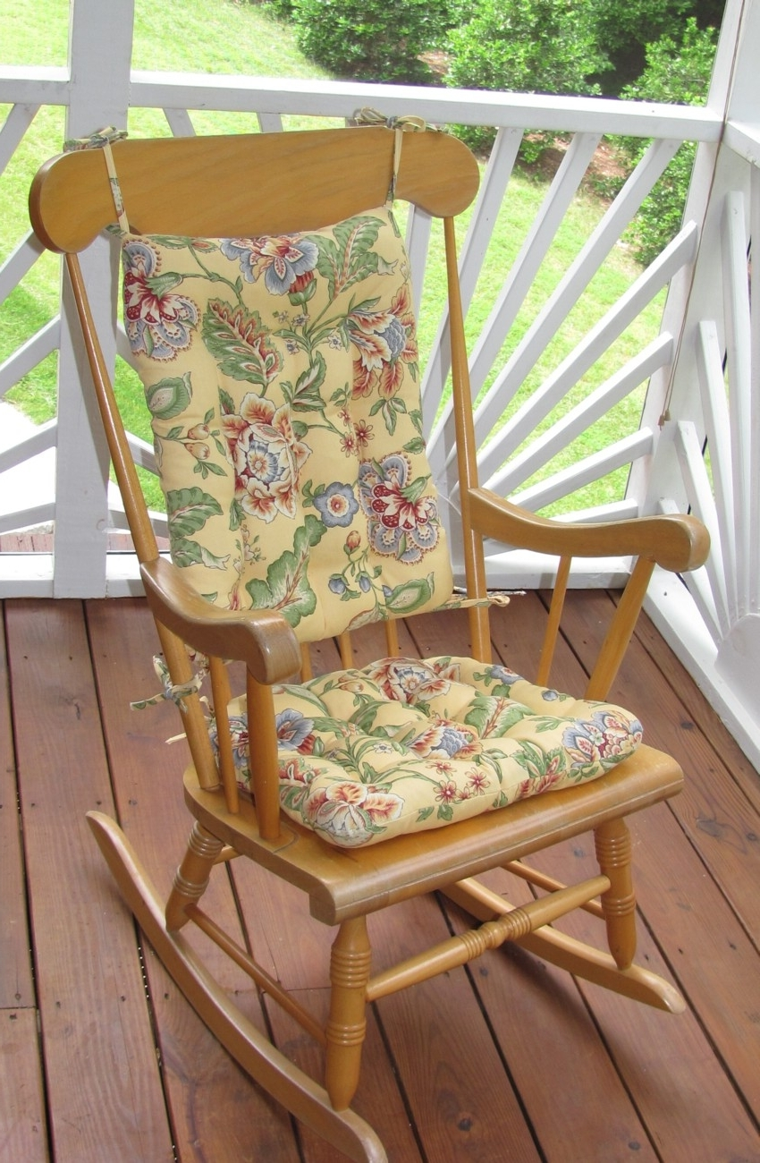 Seating That Is Sure To Please For Outdoor Rocking Chairs Intended For Widely Used Rocking Chair Cushions For Outdoor (View 5 of 15)