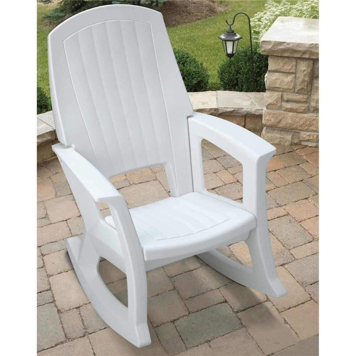 Featured Photo of White Resin Patio Rocking Chairs