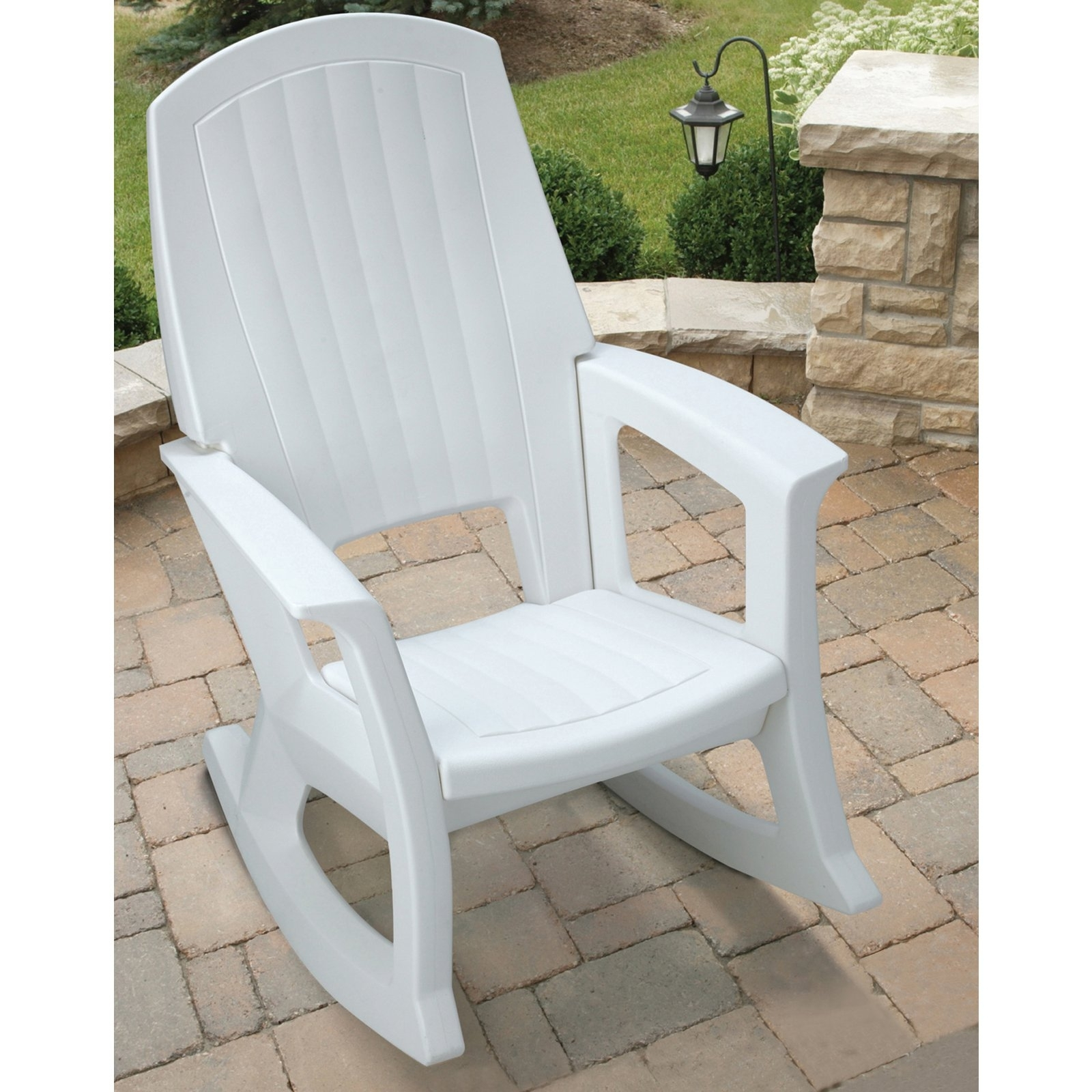 Semco Recycled Plastic Rocking Chair Outdoor Rocking White Porch Within Current White Patio Rocking Chairs (View 6 of 15)