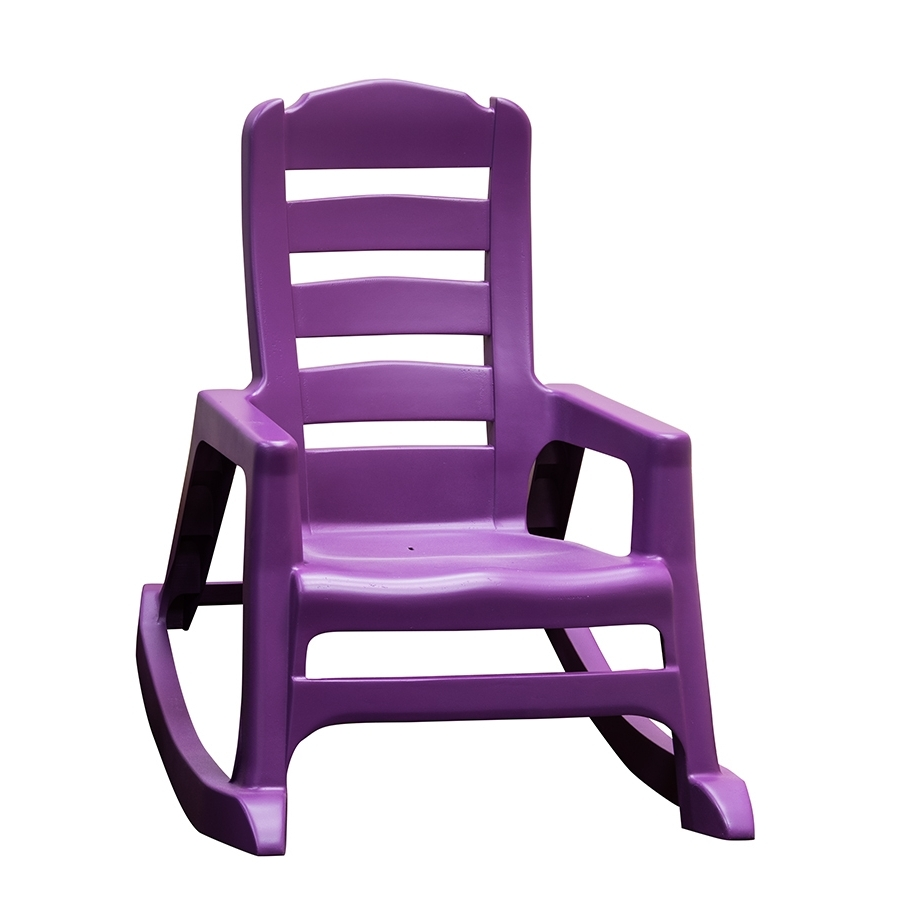 Shop Adams Mfg Corp Kids Stackable Resin Rocking Chair At Lowes Regarding Newest Stackable Patio Rocking Chairs (View 11 of 15)