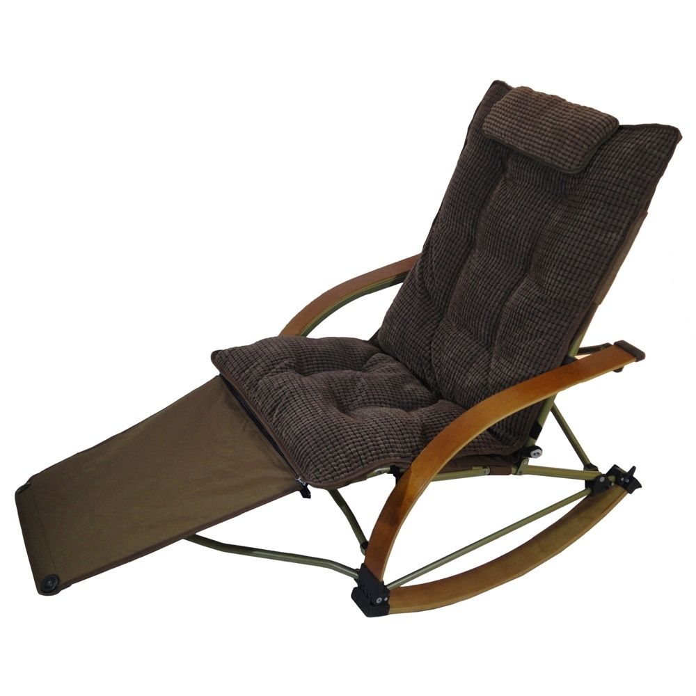 Shop Folding Bentwood Rocking Chair With Extendable Footrest And Regarding Widely Used Rocking Chairs With Footrest (View 14 of 15)