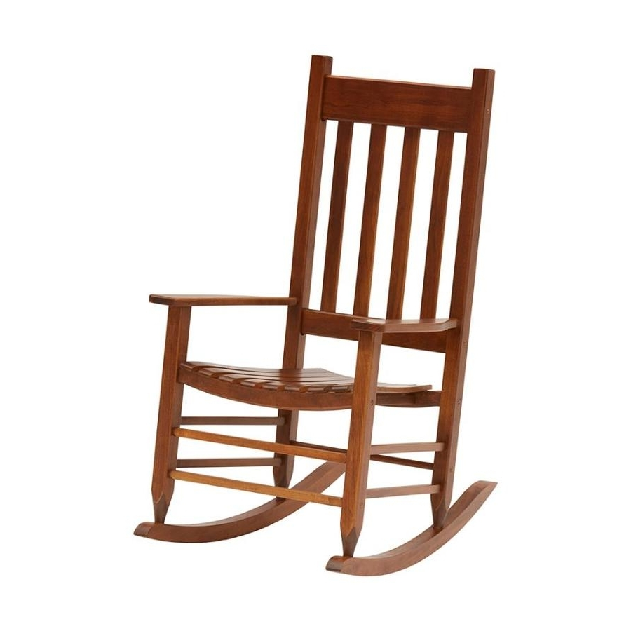 Shop Garden Treasures Acacia Rocking Chair With Slat Seat At Lowes Intended For Favorite Rocking Chairs At Lowes (View 11 of 15)