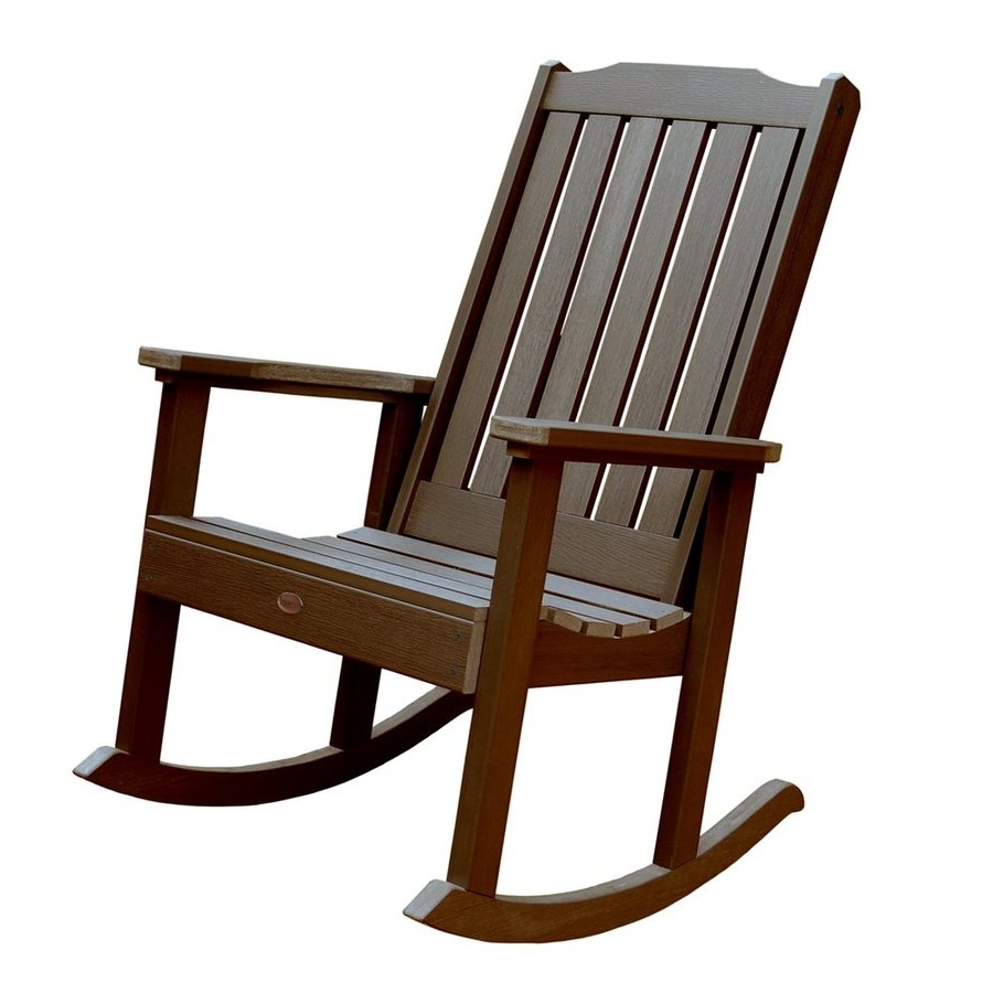 Shop Highwood Usa Lehigh Plastic Rocking Chair With Slat Seat At Regarding Preferred Lowes Rocking Chairs (View 15 of 15)