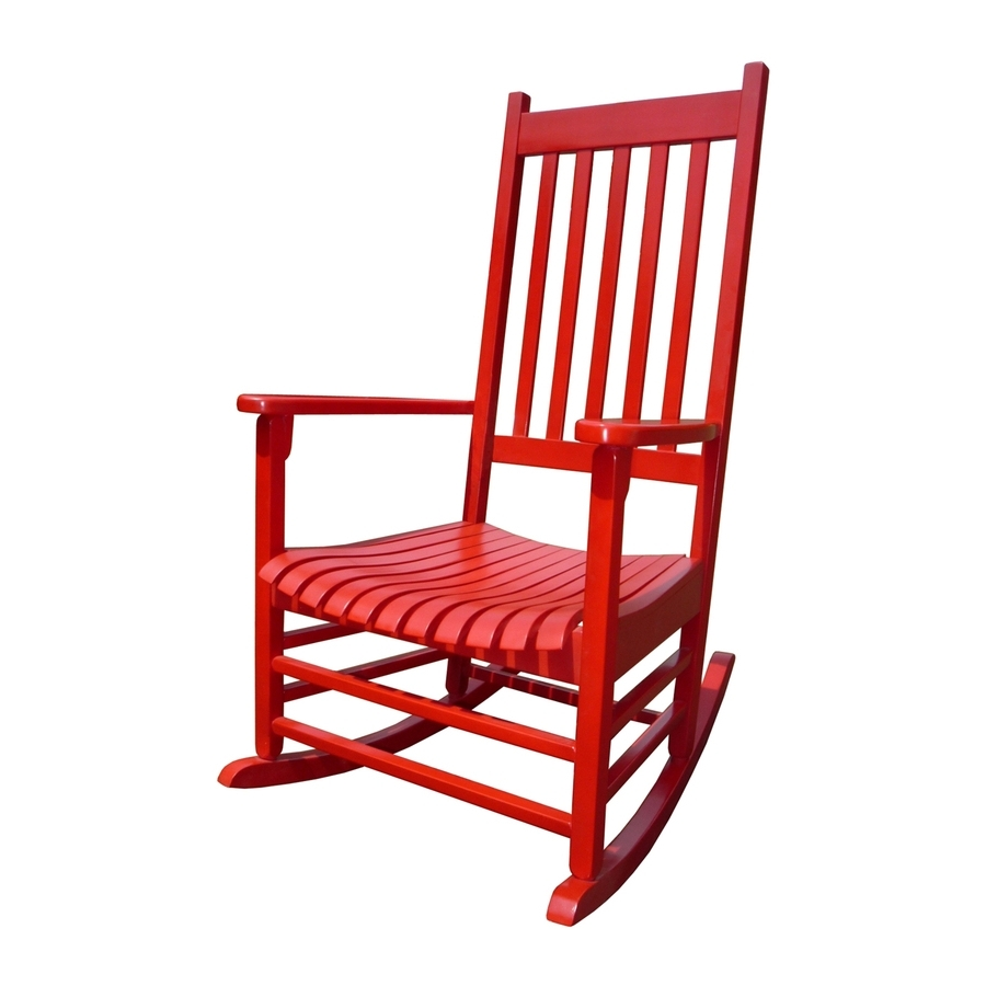 Shop International Concepts Acacia Rocking Chair With Slat Seat At Inside Preferred Red Patio Rocking Chairs (View 2 of 15)