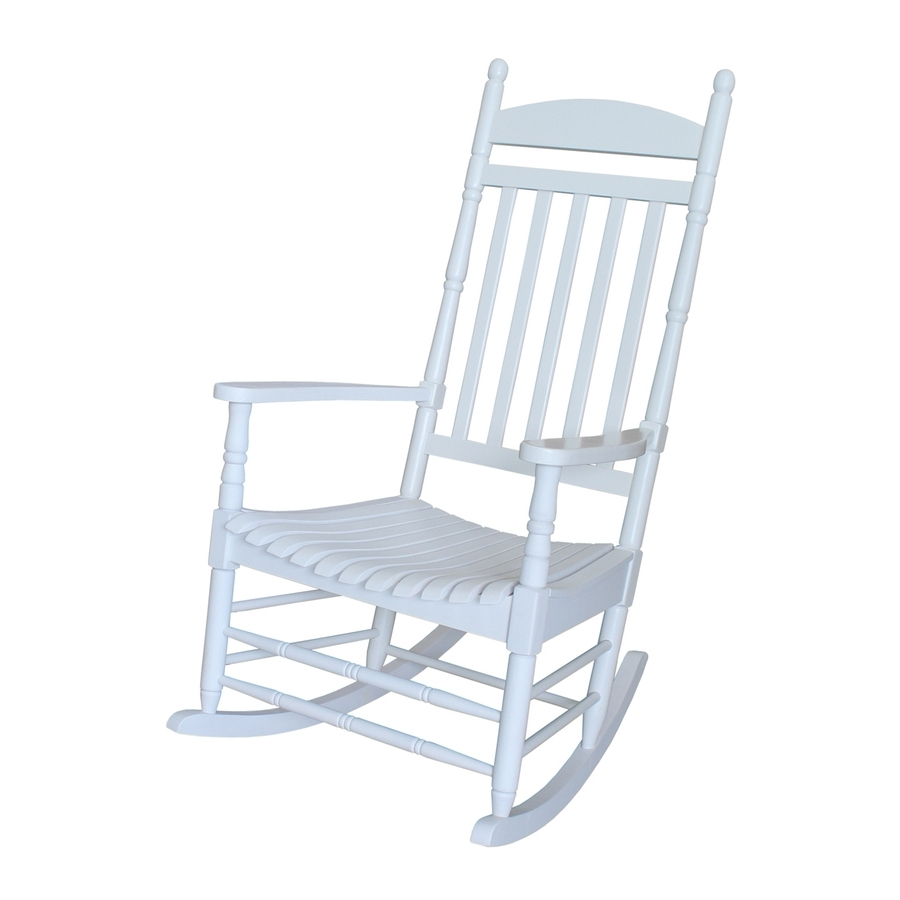 Shop International Concepts Acacia Rocking Chair With Slat Seat At With Fashionable White Patio Rocking Chairs (View 7 of 15)