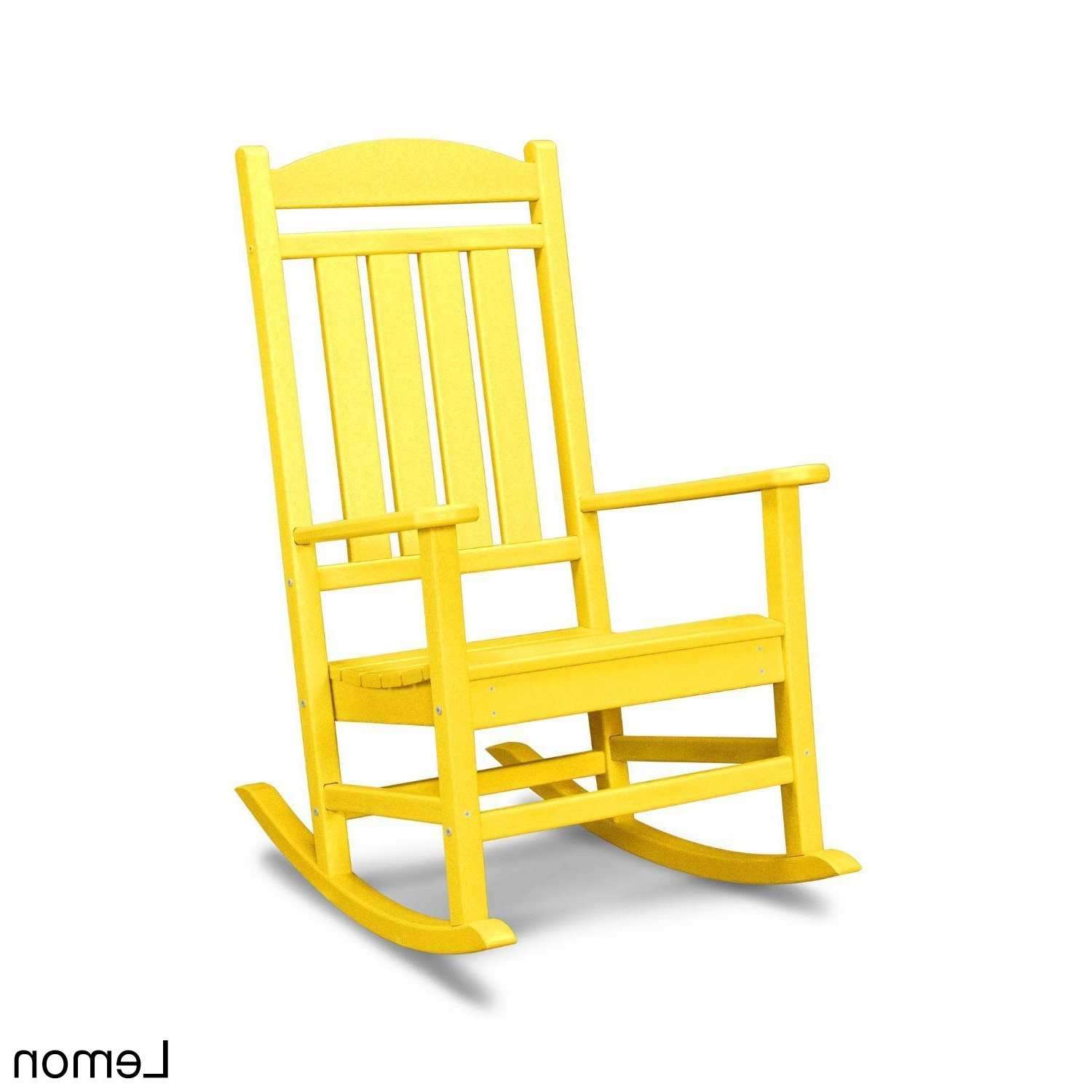 Shop Polywood Presidential Outdoor Rocking Chair – Free Shipping Inside Most Recently Released Yellow Outdoor Rocking Chairs (View 10 of 15)