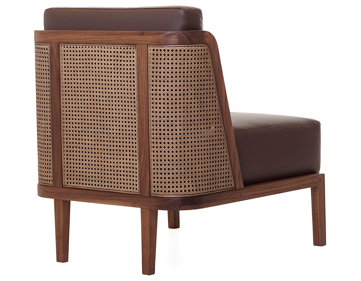Throne Lounge Chair 270 With Rattan – Hivemodern Regarding 2017 Wicker Rocking Chair With Magazine Holder (View 11 of 15)