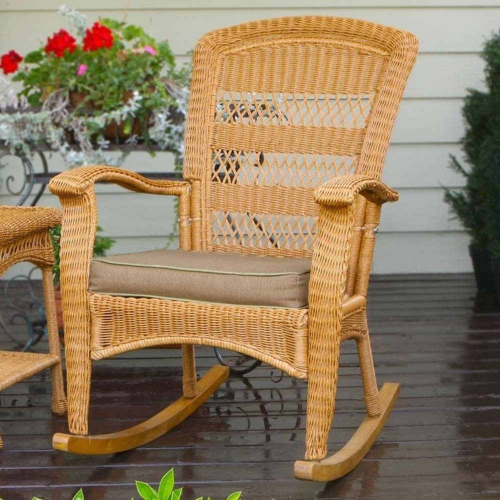 Tortuga Outdoor Plantation Wicker Rocking Chair (View 12 of 15)