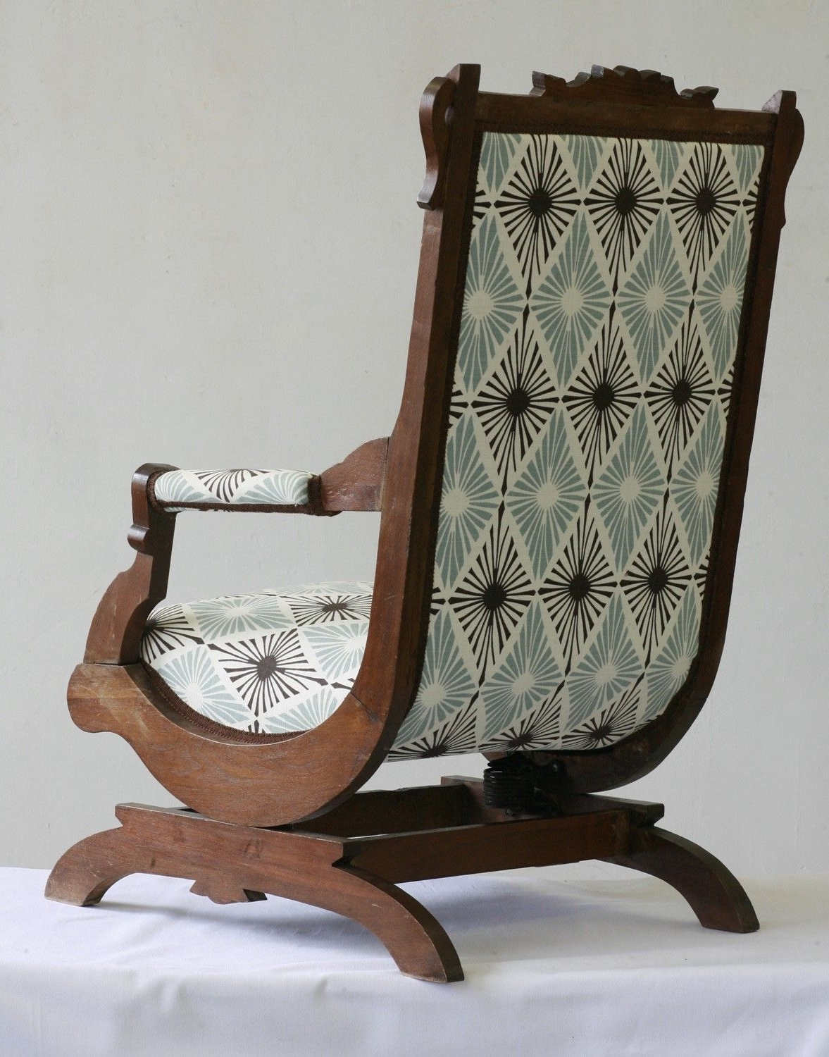 Trendy Antique Victorian Rocking Chair (View 7 of 15)