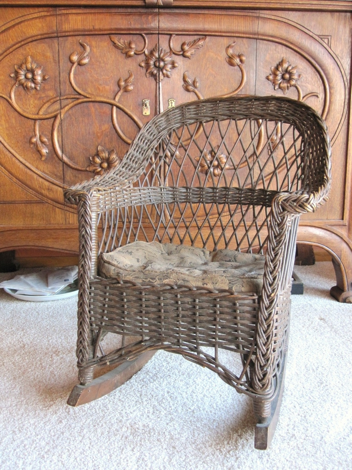 Trendy Antique Wicker Rocking Chairs With Antique Wicker Rocking Chair Child39S Rocking Chair New Rocking (View 12 of 15)