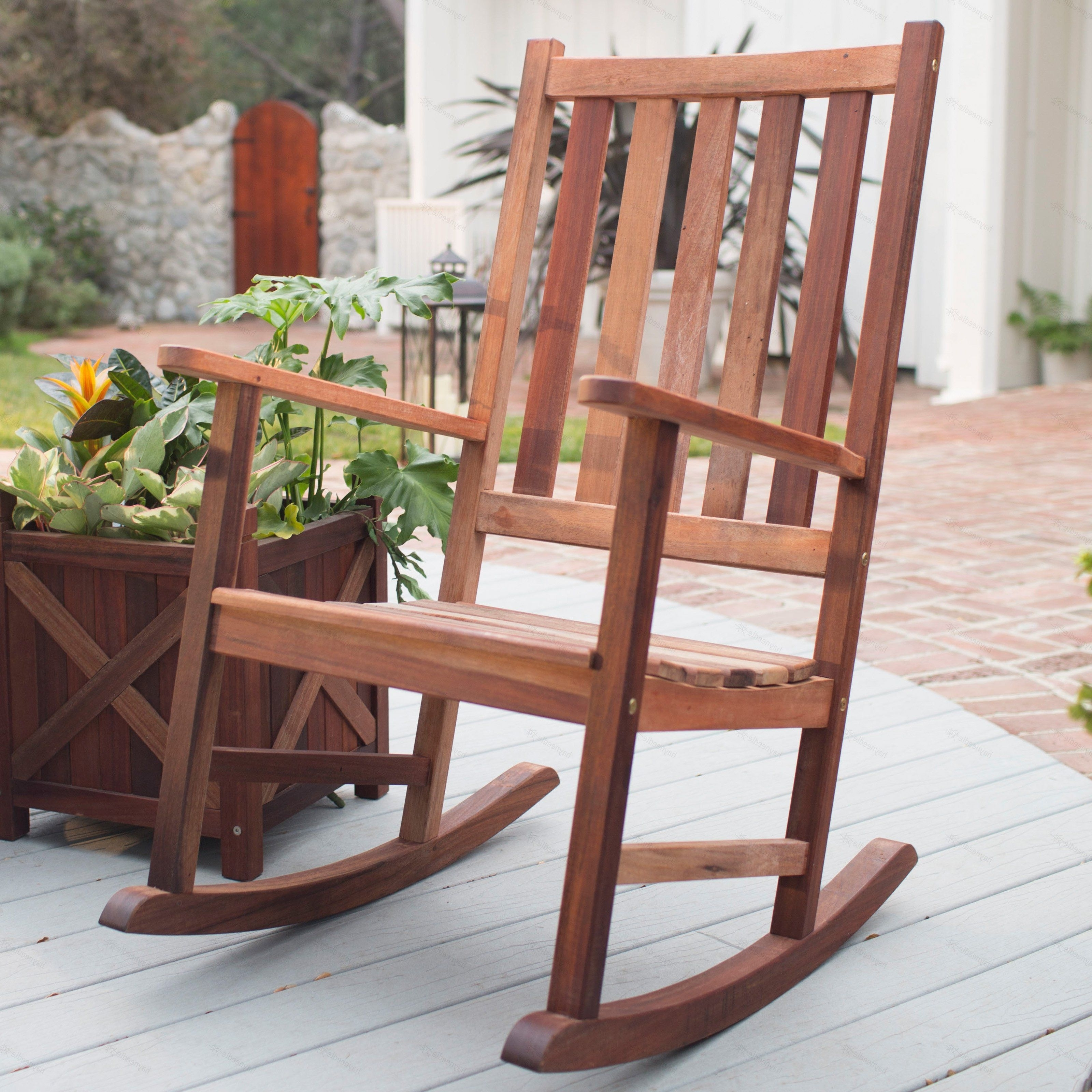 Trendy Belham Living Richmond Heavy Duty Outdoor Wooden Rocking Chair Pertaining To Rocking Chair Outdoor Wooden (View 13 of 15)
