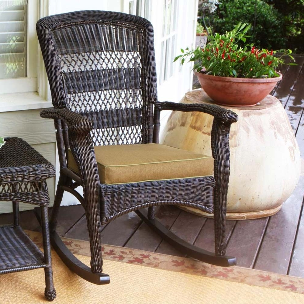 Trendy Indoor Wicker Rocking Chairs Regarding Indoor Wicker Rocking Chair Rustic Porch Chairs Jacshootblog (View 15 of 15)