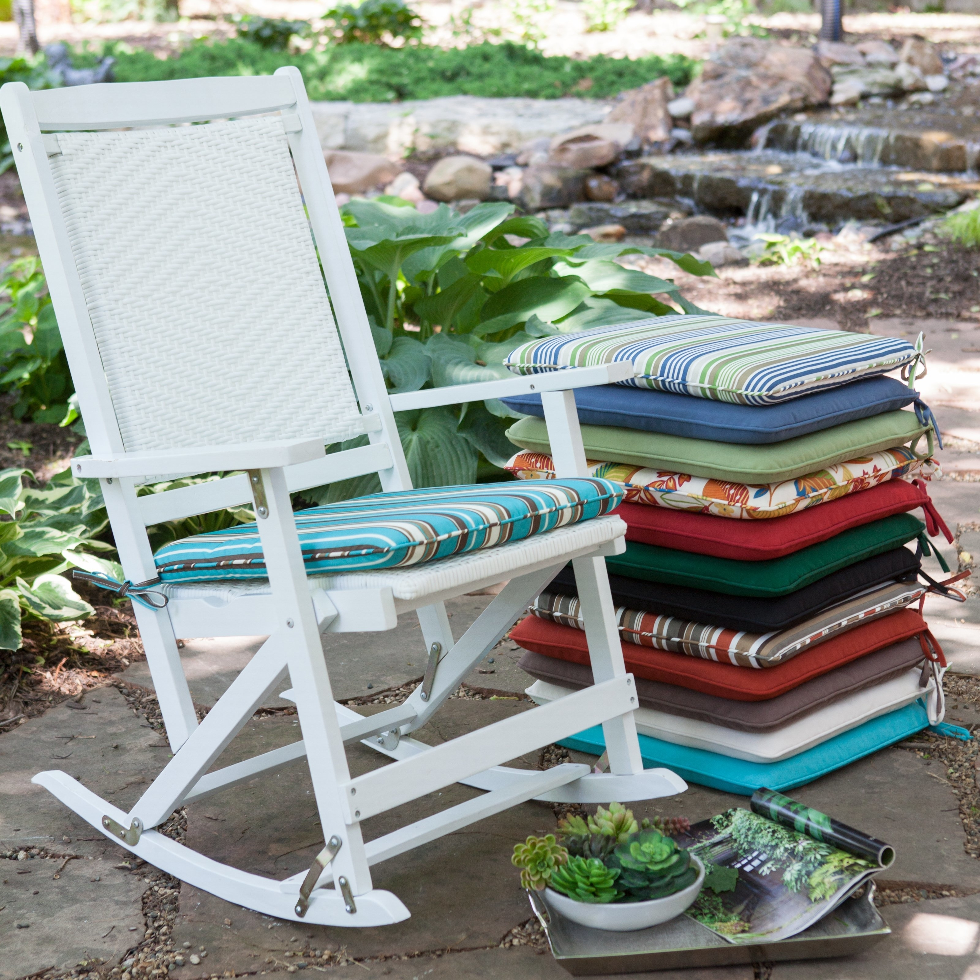 Trendy Rocking Chair Cushions For Outdoor Regarding Decor Of Patio Chair Cushions Outdoor Patio Rocking Chair Cushions (View 15 of 15)