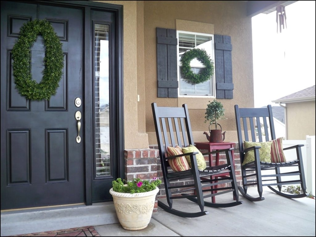 Trendy Rocking Chairs For Front Porch Throughout Beautiful Front Porch Chair Ideas – Niceporches (View 13 of 15)