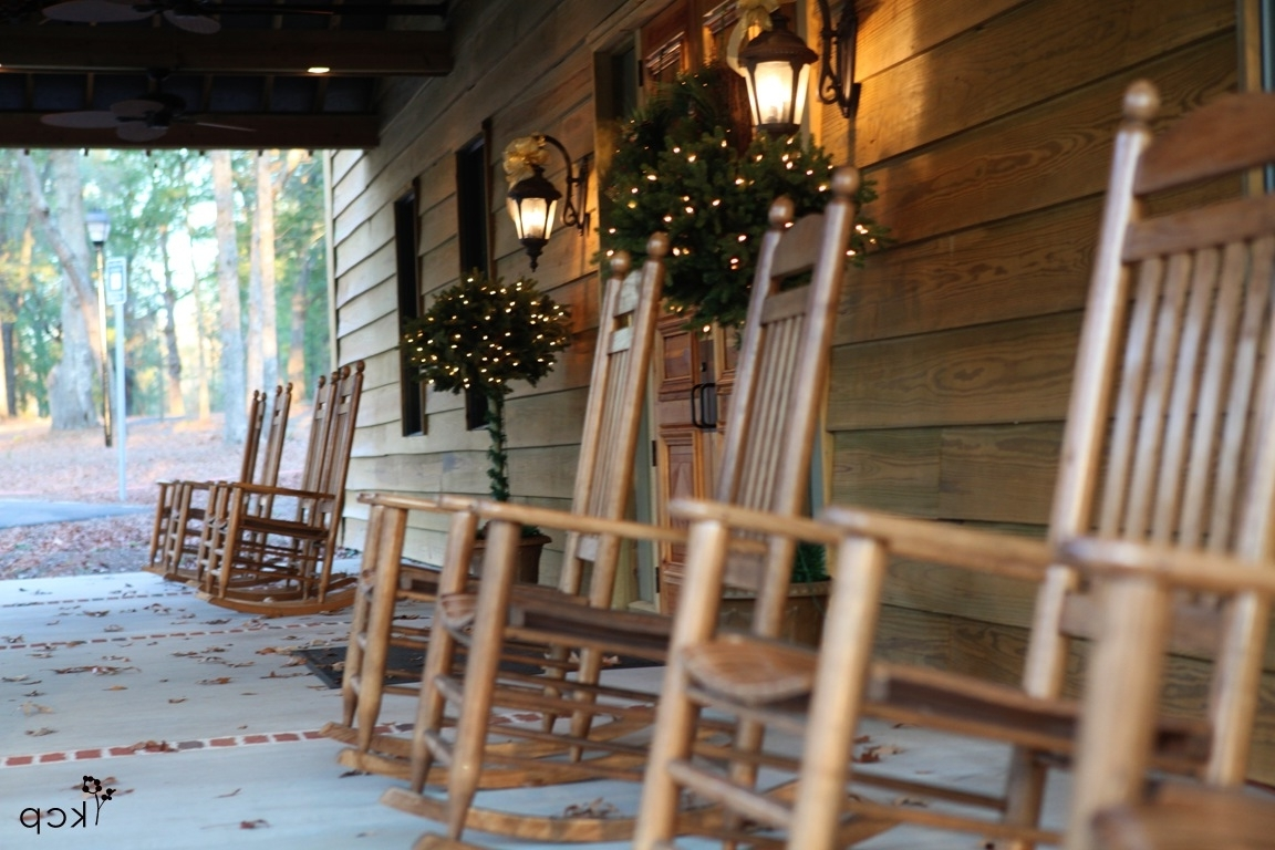 Trendy Rocking Chairs For Front Porch Throughout Front Porch Rocking Chairs – The Belle House (View 14 of 15)