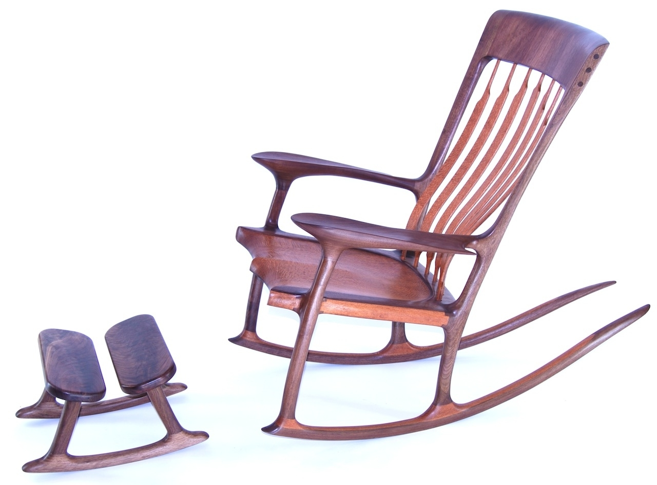 Trendy Rocking Chairs With Footstool In Custom Rocking Foot Stool (View 15 of 15)