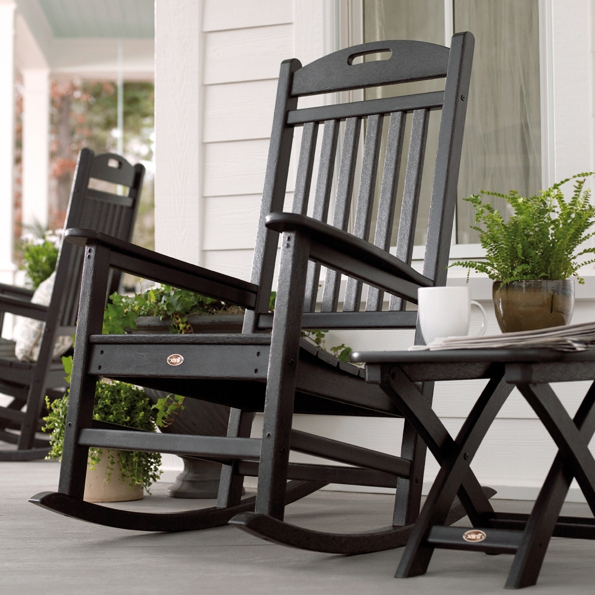 Unique Outdoor Rocking Chairs Throughout Well Known Trex Outdoor Furniture Txr100 Yacht Club Outdoor Rocking Chair (View 7 of 15)