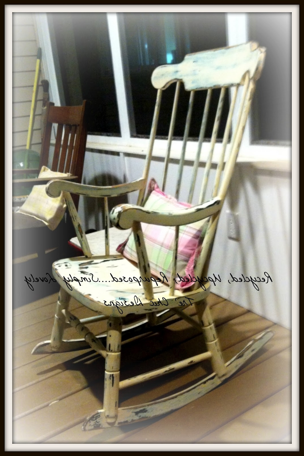 Upcycled Rocking Chairs Within Most Current Recycled, Upcycled, Repurposed .simply Lovely Tre' Chic Designs (Gallery 7 of 15)