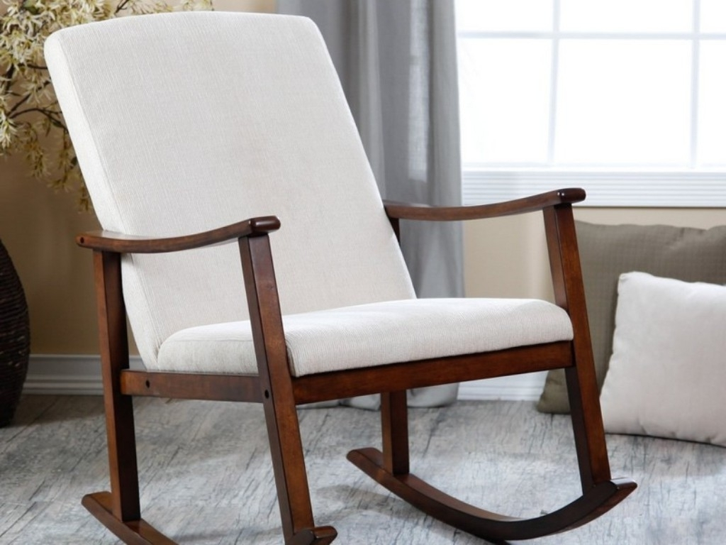 Upholstered Rocking Chairs Intended For Trendy Upholstered Rocking Chair Nursery — Wilson Home Ideas : Upholstered (View 13 of 15)