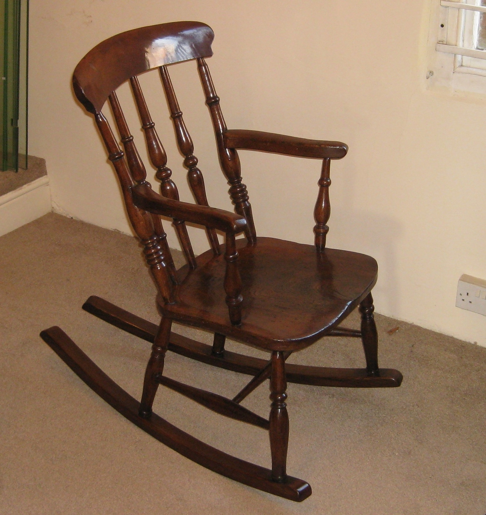 Victorian Elm And Beech Rocking Chair (View 8 of 15)