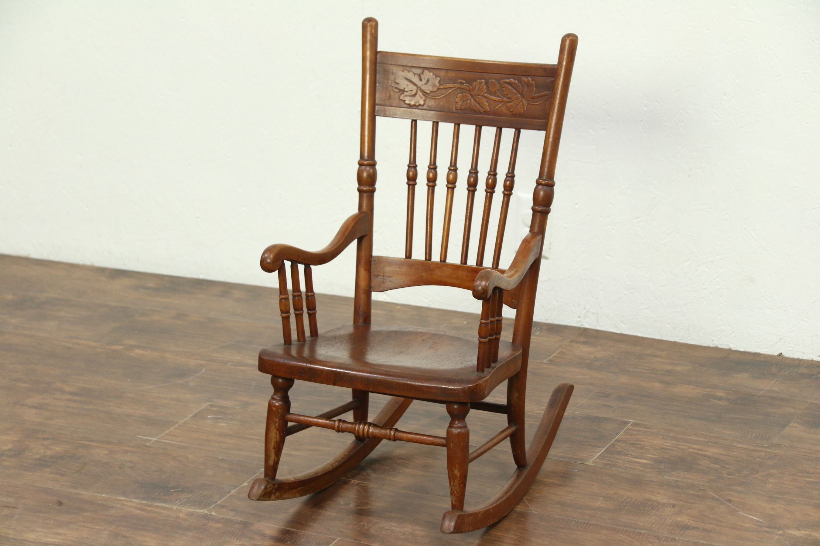 Victorian Rocking Chairs Pertaining To Fashionable Sold – Victorian Rocking Chair Press Carved Antique Child Size (View 11 of 15)