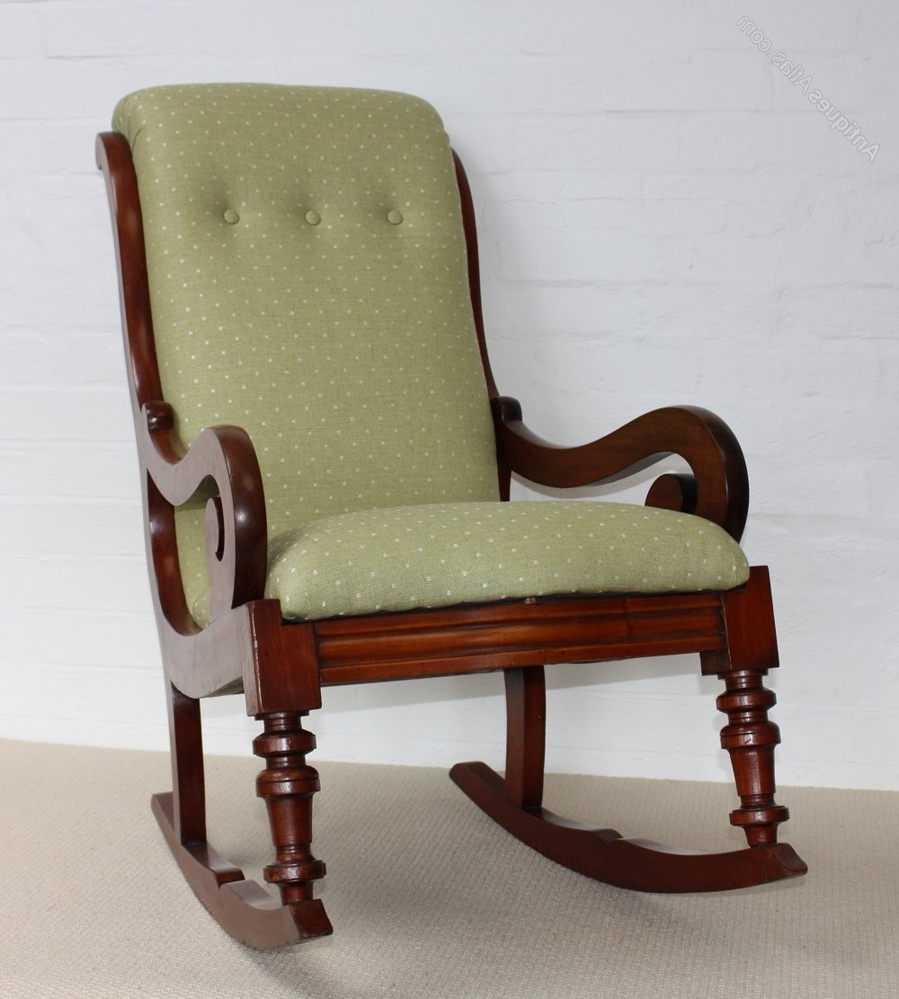 Victorian Rocking Chairs With Fashionable A Victorian Mahogany Rocking Chair – Roger Dixon Antiques & Upholstery (View 12 of 15)