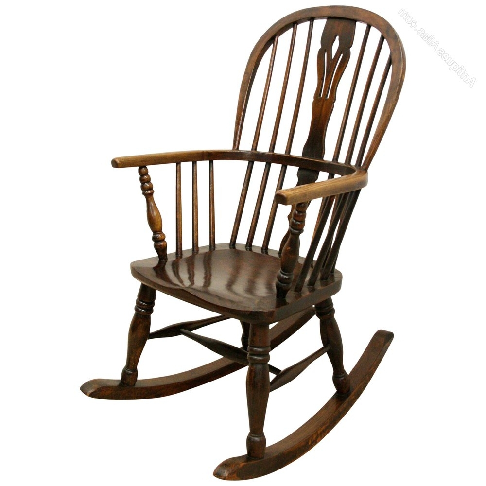 Victorian Windsor Rocking Chair – Antiques Atlas Intended For Most Popular Victorian Rocking Chairs (View 15 of 15)