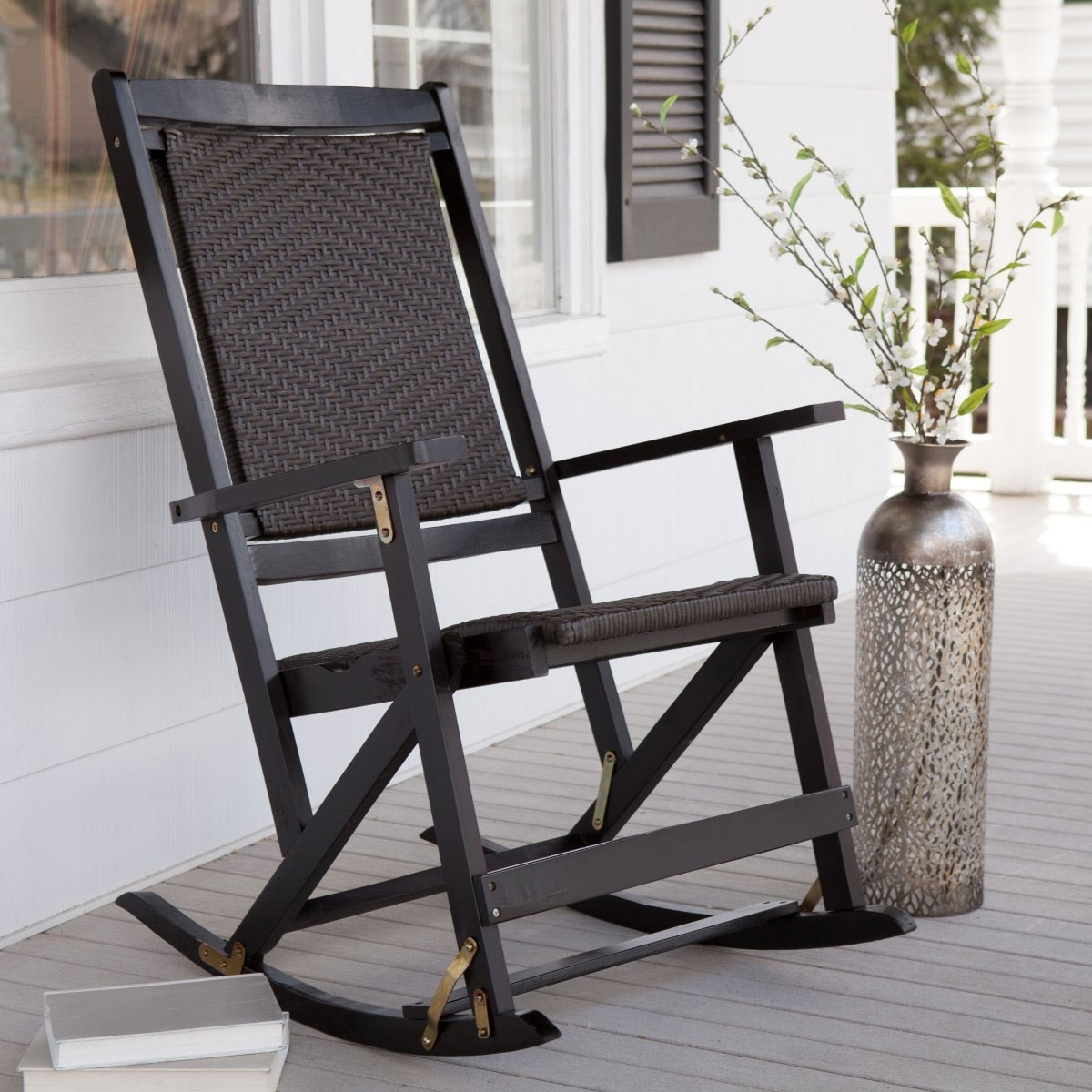 Vintage Outdoor Rocking Chairs Regarding Most Recently Released Outdoor Metal Rocking Chair Modern Chairs Quality Interior Lawn (View 12 of 15)