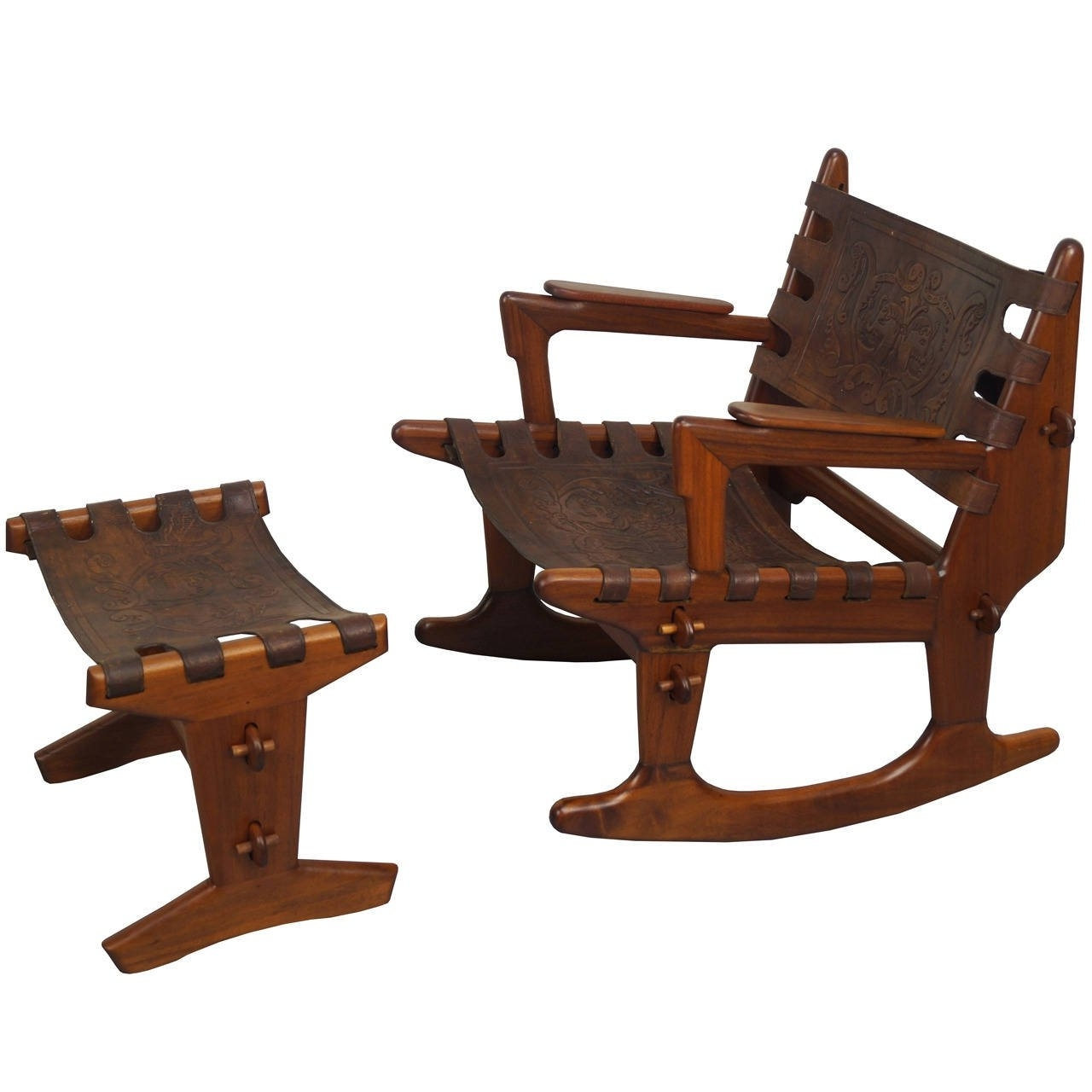Vintage Rocking Chair And Ottomanangel Pazmino At 1Stdibs For Favorite Rocking Chairs With Ottoman (View 14 of 15)