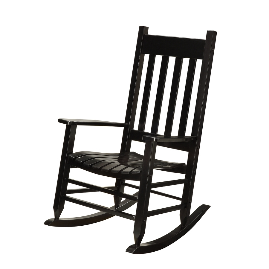 Well Known Black Wicker Bistro Sets Table Chair Patio Garden Outdoor Garden Regarding Black Patio Rocking Chairs (View 8 of 15)