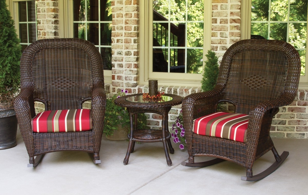 Well Known Resin Patio Rocking Chairs Intended For Patio Furniture And Decor, Patio Swings And Furniture (View 15 of 15)