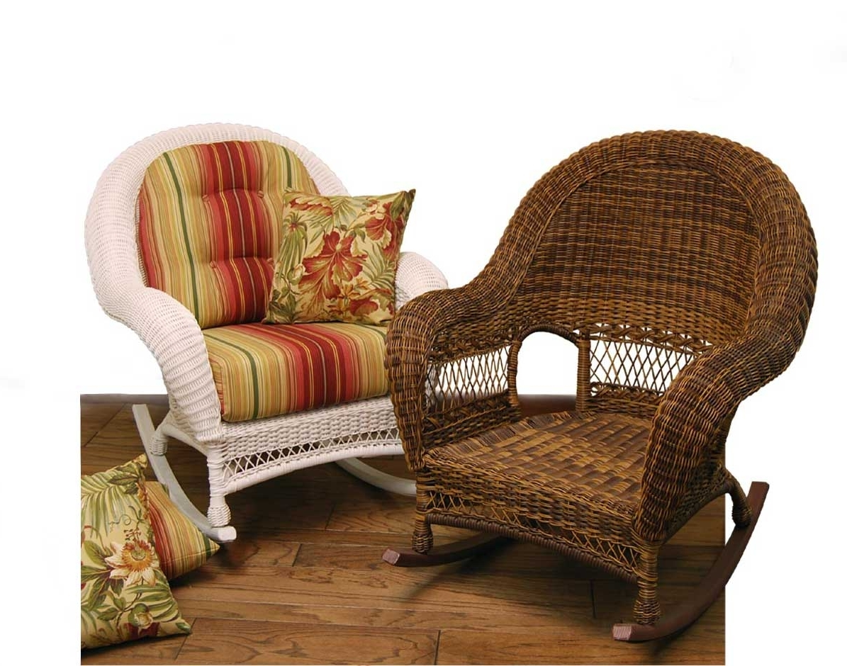 Well Known Wicker Rocking Chairs With Cushions In Wicker Domain Deep Seat Rocking Chair W/ Cushions (View 13 of 15)