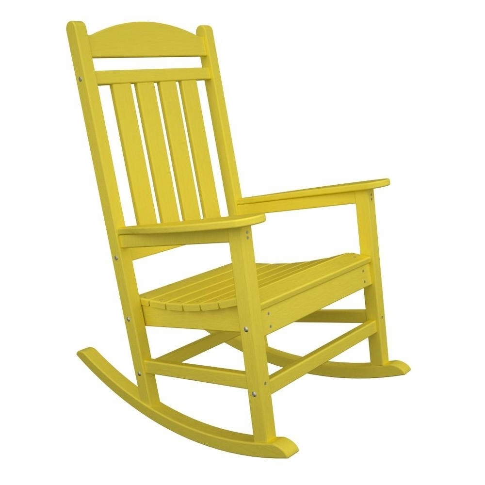 Well Known Yellow Outdoor Rocking Chairs With Regard To Polywood Presidential Lemon Patio Rocker R100Le – The Home Depot (View 12 of 15)