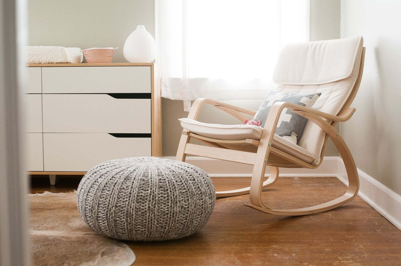 Well Liked Ikea Poang Rocking Chair For Gray And White Nursery (View 3 of 15)