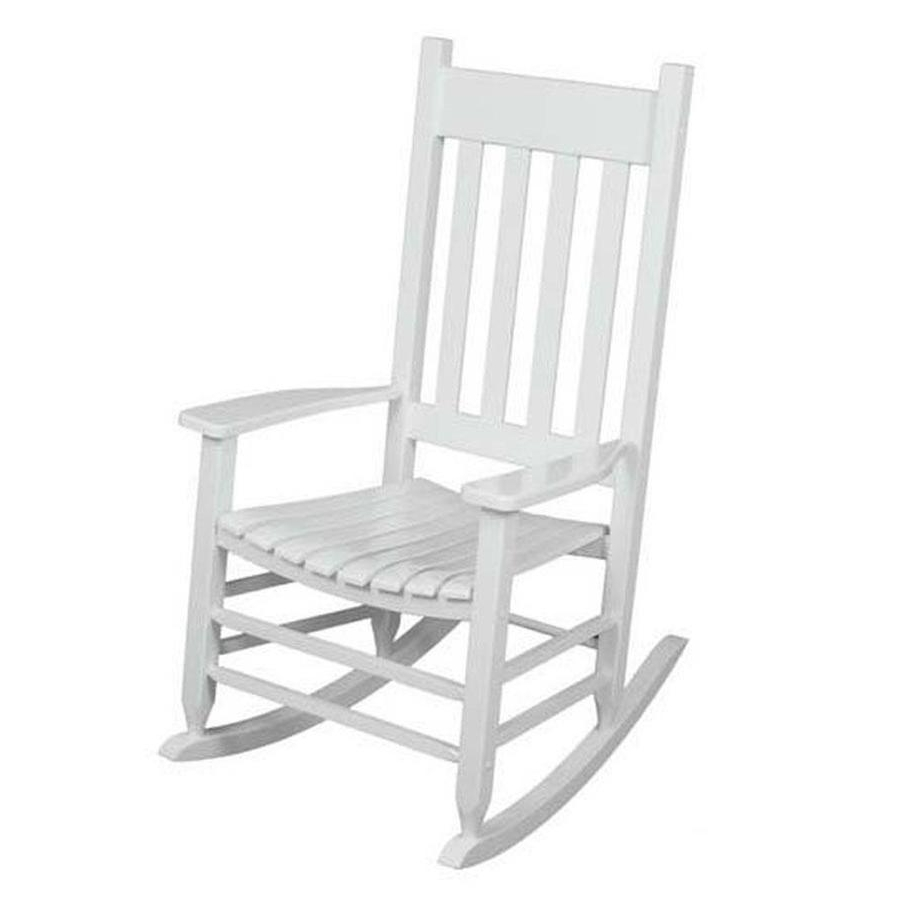 Well Liked Lowes Rocking Chairs In Shop Garden Treasures Acacia Rocking Chair With Slat Seat At Lowes (View 1 of 15)
